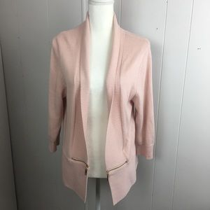 Ivanka Trump pink open front, zipper pocket,